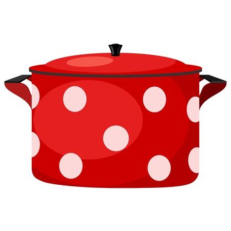 Illustration de pots rouges. eps10
