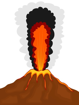 Cartoon image of a volcano. eps10 Stock Vector - 15822803