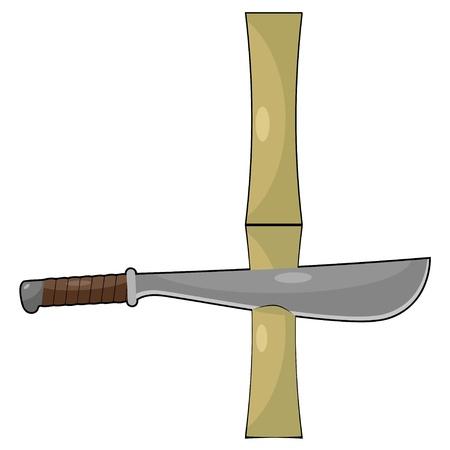 Bamboo and machetes Stock Vector - 15869877
