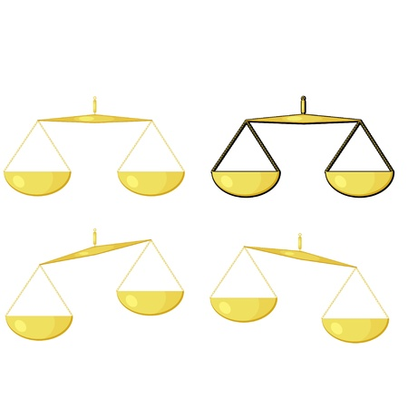 civil rights: Illustration of golden scales