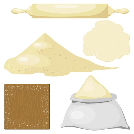 A set of subjects for the dough Vector