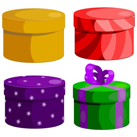 Set of gift boxes round  eps10 Stock Vector - 15930961