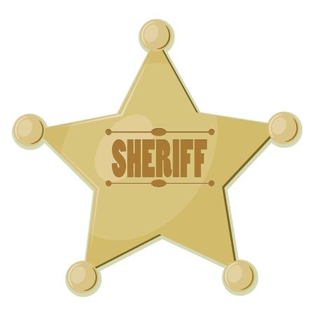 estrella caricatura: Cartoon estrella sheriff eps10 Vectores