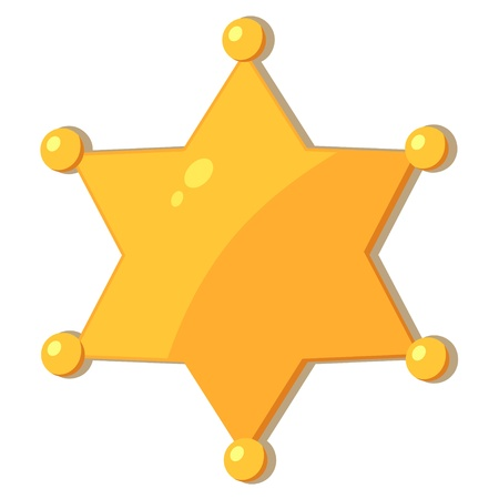 Cartoon gold star sheriff  eps10