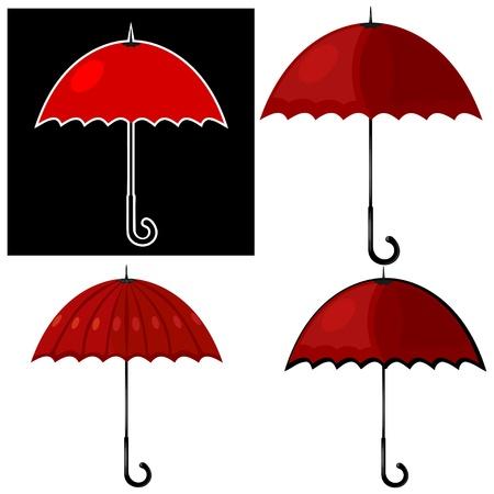 Illustration of a red umbrella. Stock Vector - 16109043
