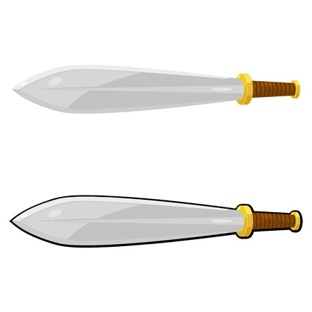 Cartoon sword.  Vector