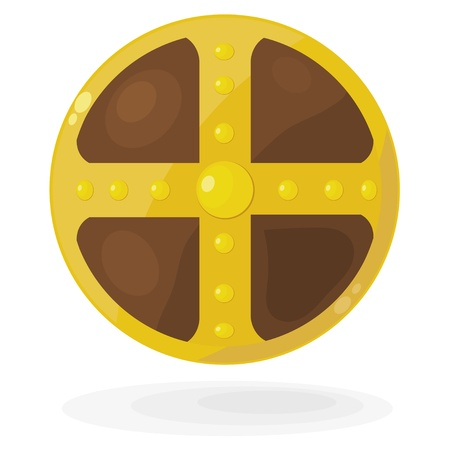 Cartoon Viking shield.  Vector