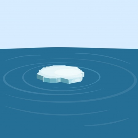 Floe in the sea.  Illustration