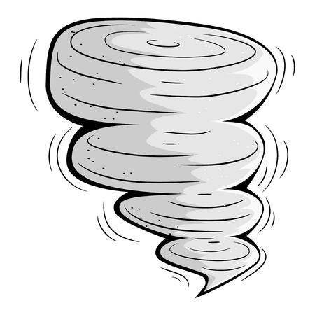 Cartoon tornado. Stock Vector - 16109115