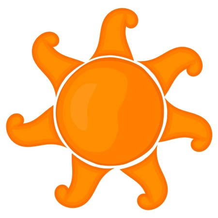 Cartoon sun. Stock Vector - 16109107