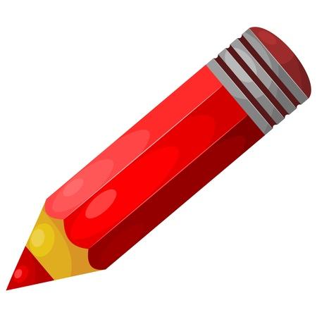 ołówek: Cartoon czerwony ołówek.
