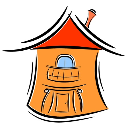 Cartoon little house. Stock Vector - 16109207