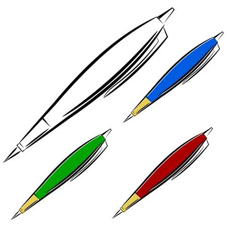 Cartoon pen Stock Vector - 16250087