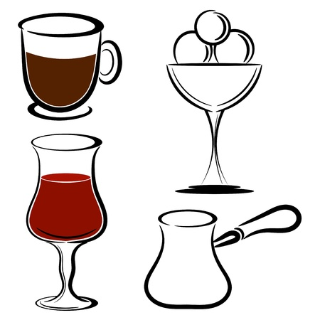 Set of desserts Vector