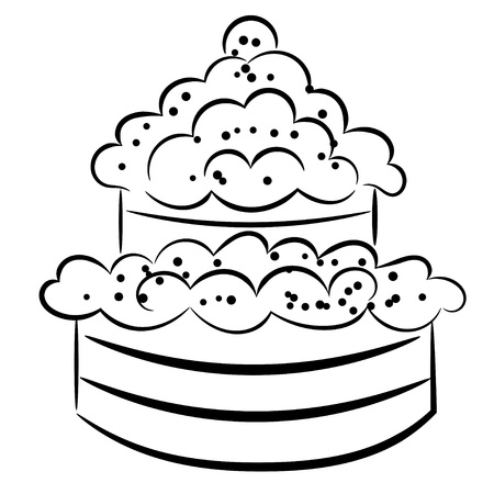 Cartoon cake Stock Vector - 16250093