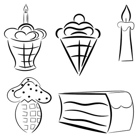 Cartoon set of cakes Stock Vector - 16250096