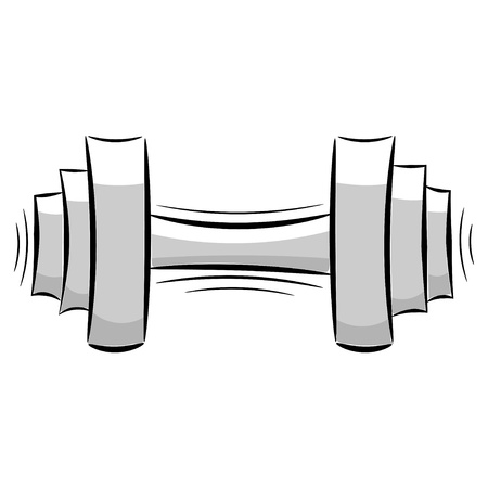 Cartoon dumbbell Vector