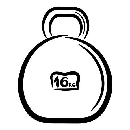 Cartoon metal weight for sports Vector