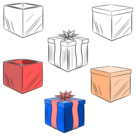 Cartoon set of gifts Stock Vector - 16250099
