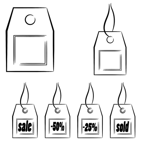 Set of graphic labels Stock Vector - 16250095