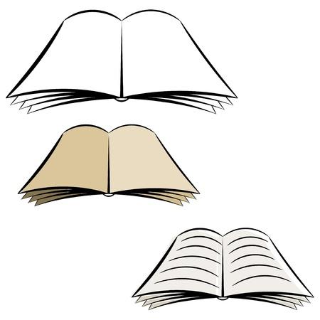 Cartoon open book Stock Vector - 16406754