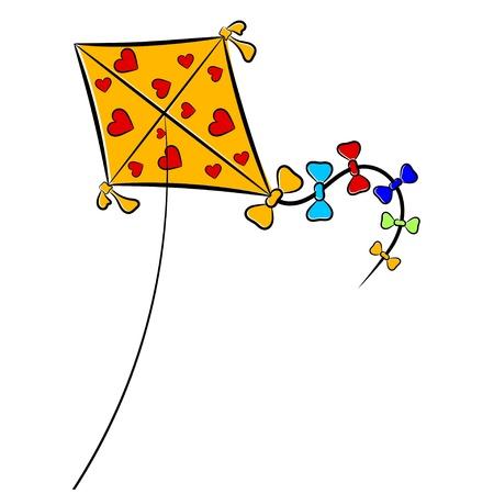 papalote: Cartoon ilustraci�n de un cometa. eps10