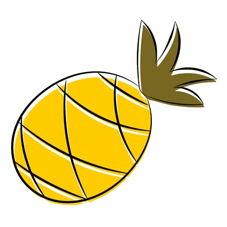 Cartoon pineapple. eps10 Vector