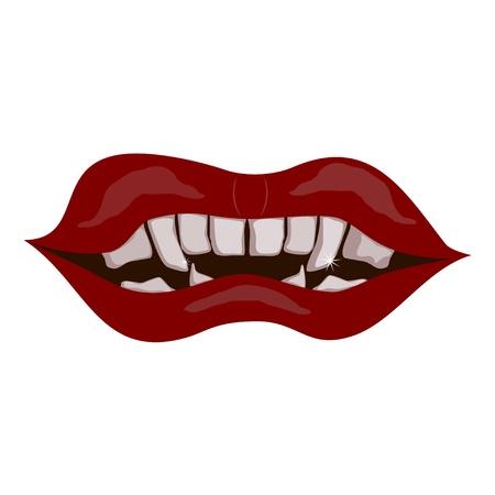 Vampire mouth Stock Vector - 16677031