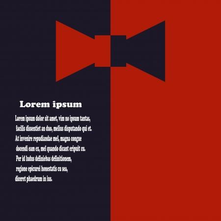 black tie: Fondo abstracto con pajarita. Vectores