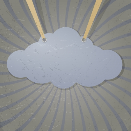 Abstract cloud on the ropes. Stock Vector - 16855562