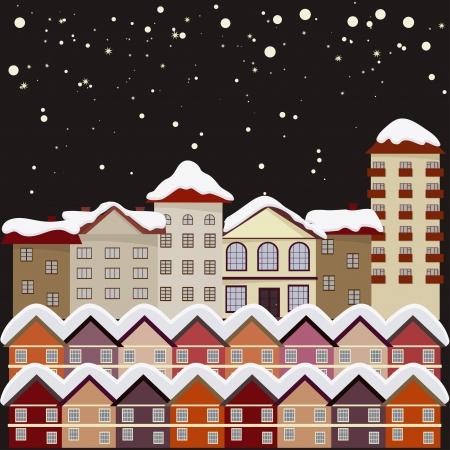 Night city. Stock Vector - 16855558