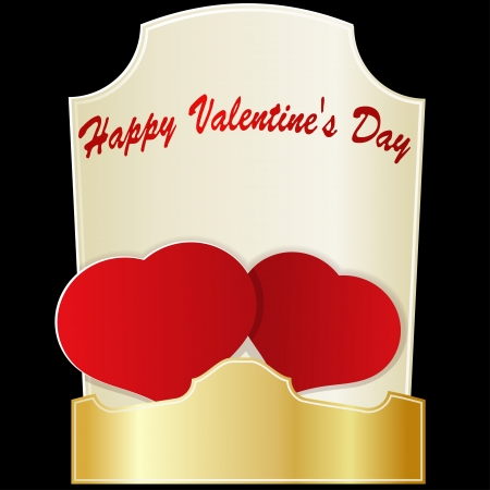 Two red hearts on Valentine's Day. eps10 Stock Vector - 17258318