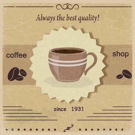 coffee shop: Vintage label coffee shop. eps10