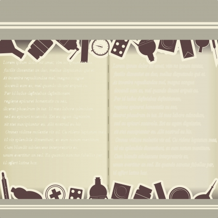 Vintage background with medical themes Vector