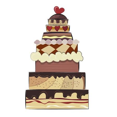 Big birthday cake Stock Vector - 17537048