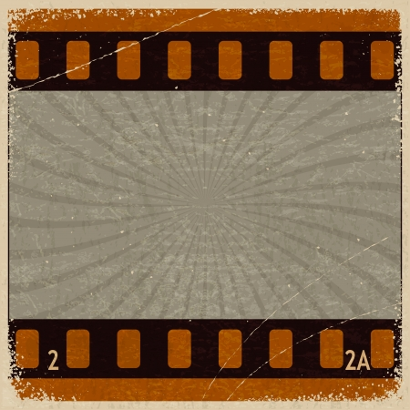 Vintage background with the image frame movie Stock Vector - 17657748