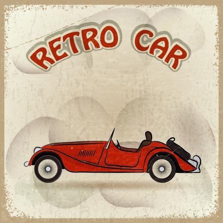 retro styled imagery: Retro car Illustration