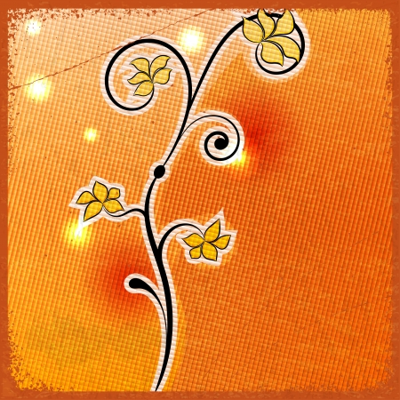 Abstract flower - a symbol of spring - on vintage background Vector
