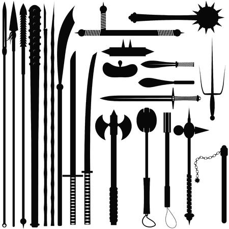 Set bladed weapons Illustration