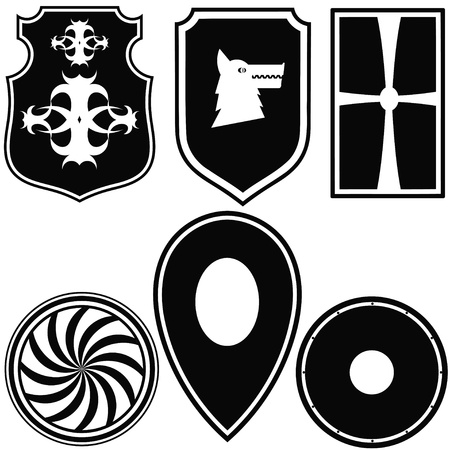 nobility symbol: A set of silhouettes of military shields