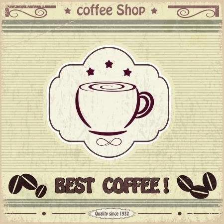 Vintage label coffee shop Stock Vector - 17900219