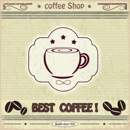 Vintage label coffee shop Stock Vector - 17900219