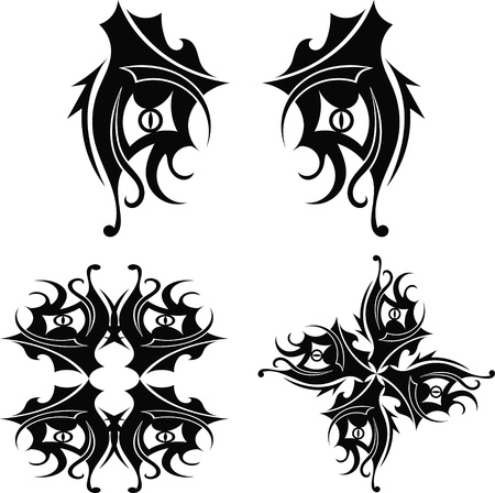 Graphic design Tribal tattoo Stock Vector - 17900165