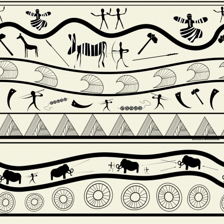primeval: Seamless tribal pattern