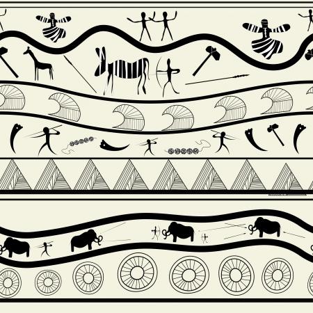 primitive: Seamless tribal pattern