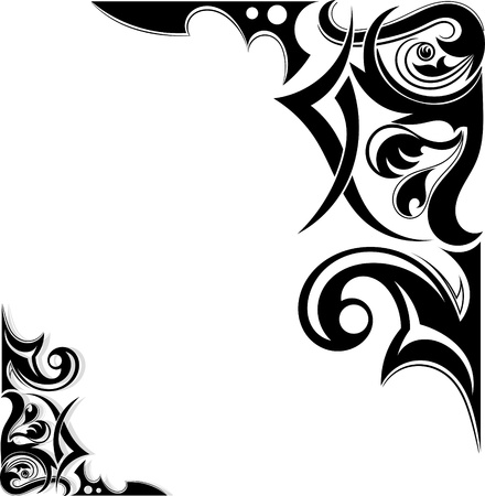 Graphic Tribal tattoo wings Stock Vector - 17900167