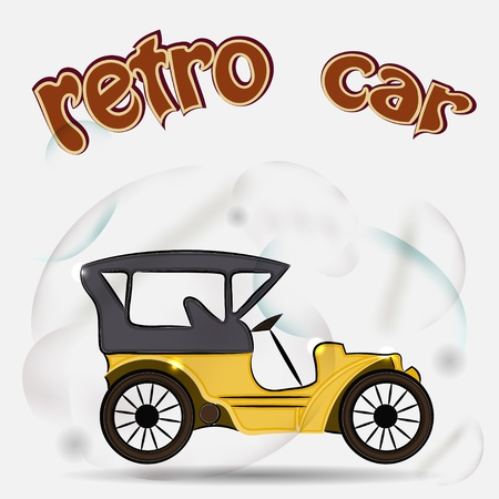 Retro car Vector