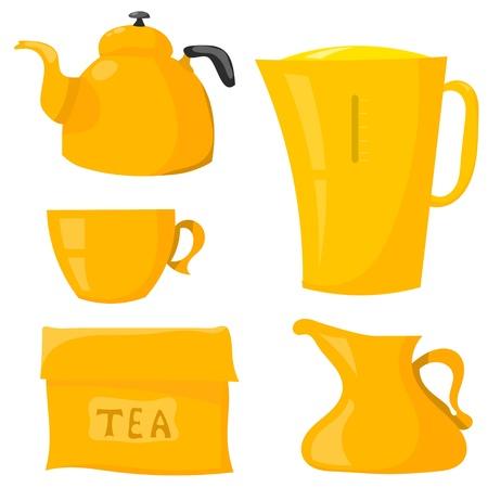 Set Items for tea Stock Vector - 17900210