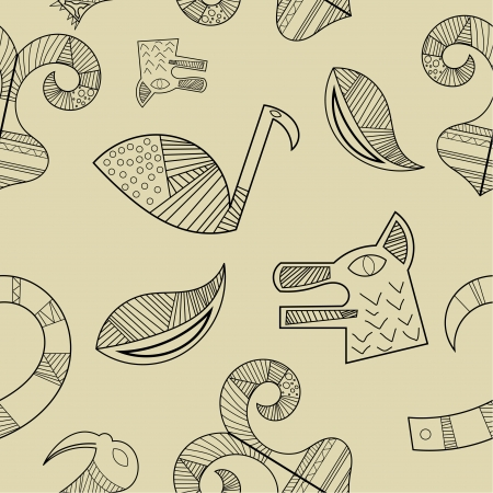 Seamless texture with elements of the animal style Stock Vector - 17900241