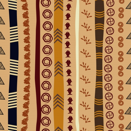 Seamless texture with African motifs Vector